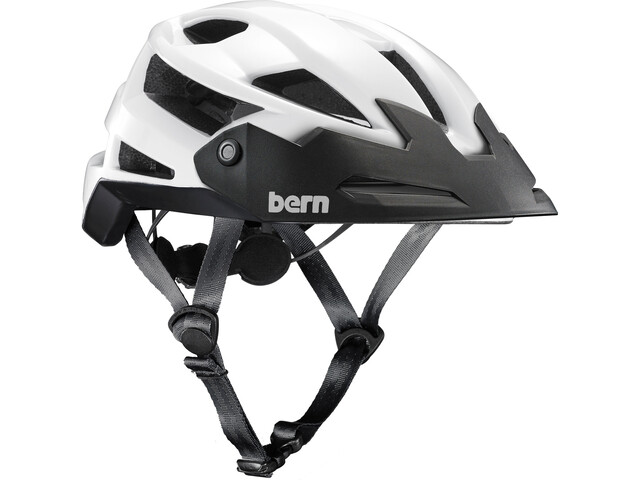 Bern FL-1 TRAIL Helmet with Visor gloss white